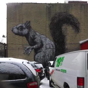 Squirrel Mural, Brooklyn Flea