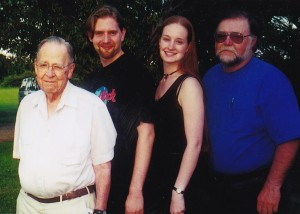 """The hubs and me with my dad and """"Detroit Grampy."""""""
